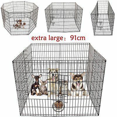 Pet Dog Puppy Rabbit Foldable Playpen Indoor / Outdoor Enclosure Run Cage Fence