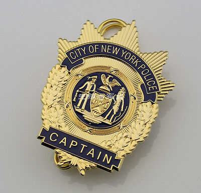 Obsolete Replica City of New York Brass Badge Metal Brooch Badge Collection