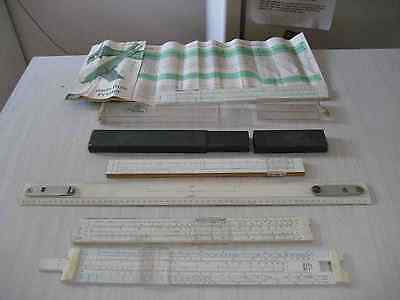slide rules set of four slide rules and one drafting rule