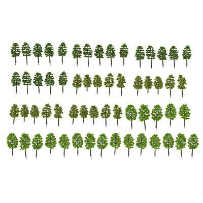60x Model Trees Layout Train Railway Diorama Landscape Scenery 1:150 N Scale