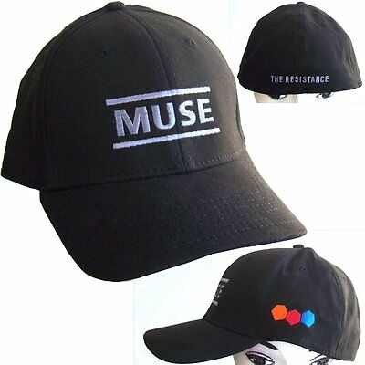 Muse Resistance Embroidered Logos Blk Fitted Baseball Hat Cap L/xl New Official