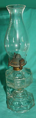 Glass Lamp  38 cms high, Base is 35cms, 33 cms around th centre excellent condit