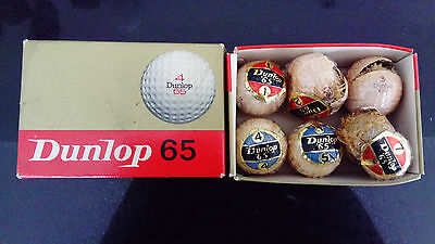 VINTAGE dunlop 65 golf balls in original box