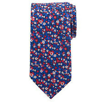 Daniel Hechter Handmade Pure Silk Blue Ditsy Floral Tie Brand New RRP £35