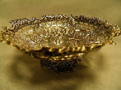 Beautiful Sterling Silver Bon Bon Dish by George Nathan & Ridley Hayes 1887