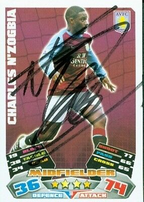 Charles N'Zogbia - Villa - Signed Trading Card - COA (44430)