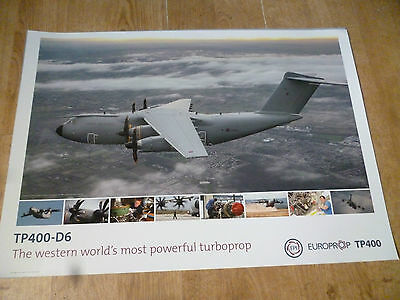 Roll Royce RAF TP400-D6 Turboprop Advertisement poster size A2