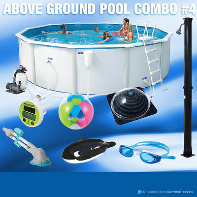 Swimming Pool 10100L Above Ground Round 360cm Pool