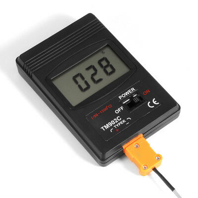 K Type Digital LCD Temperature Detector Thermometer + Thermocouple Probe BI456