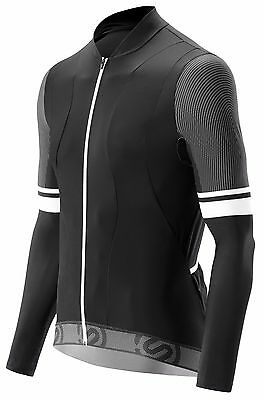 SKINS TREMOLO LONG SLEEVE SLEEVE COMPRESSION CYCLING TOP - Mens - Black/White