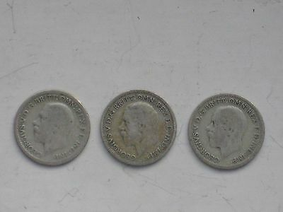 British Coins - Sixpences - 1929,32,33