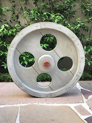 Industrial wooden foundry mold large cog wheel