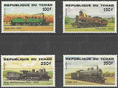 Timbres TRAINS Tchad 456/9 * (3687)