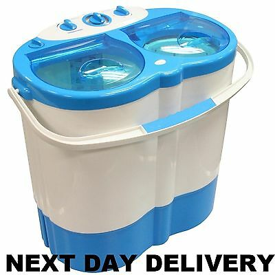 New Portable Student Flat Camping Twin Tub & Spin Dryer Washing Machine