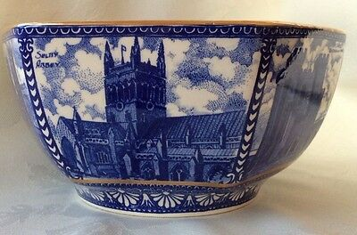 Ringtons Tea Blue & White Castle / Cathedrals bowl Made by Wade