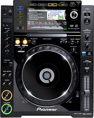 Pioneer CDJ-2000 Pro-Grade Digital DJ Deck (Black)