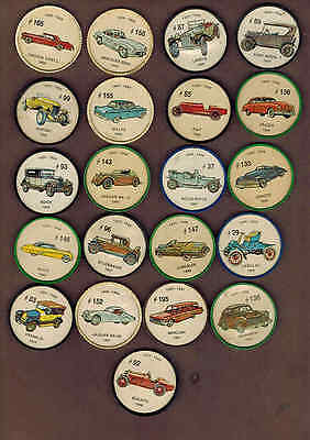 ANTIQUE CARS: Collection of 21 Scarce Canadian JELLO COINS (1960)4