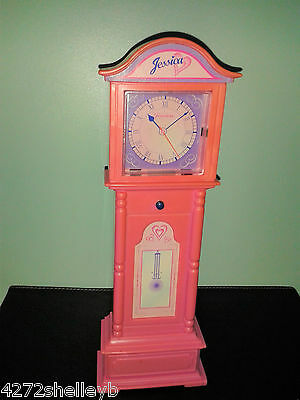 BARBIE/SINDY SIZE FURNITURE GRANDFATHER CLOCK by GEOFFREY INC from 1980's