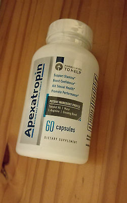 Apexatropin Male Enhancement Pills-New and Sealed-60 Capsules No Contract