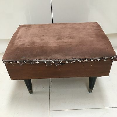 Vintage Sewing Box And Contents