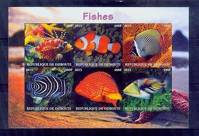 jibouti / 2016 tropical fishes/MNH.good condition