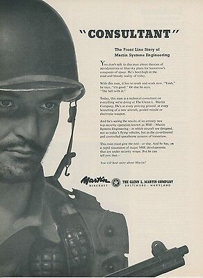 1953 Martin Aircraft Vintage Advertisement Ground Soldiers Are New Consultants