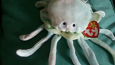 RARE TY Beanie Baby Original Goochy Jellyfish with Error Tags ~ Mint Condition.