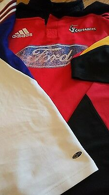 super rugby shirts highlanders  crusaders and chiefs bundle.