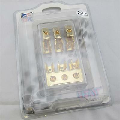 BK AGU Gold 3 Position 3x4G and 2x8G Fuse Block with Clear Plastic Housing