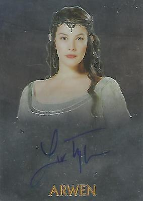 """Lord of the Rings Trilogy Chrome - Liv Tyler """"Arwen"""" Autograph Card"""