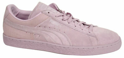 Puma Suede Classic Casual Mens Lace Up Lilac Trainers 361372 08 P5