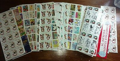 Christmas Seals 20 Full Sheets 70S 80S And Misc. Free Ship