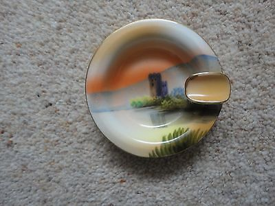 VINTAGE Noritake Handpainted ASH TRAY (Castle/Water Scene) With Box