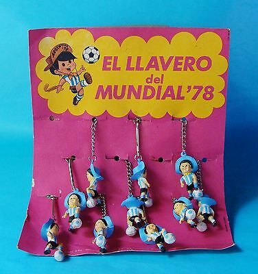 Fifa World Cup Key Chain Argentina 1978 Soccer Football South America Unused