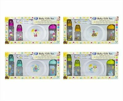 first steps Baby Feeding 6 Piece Gift Set Newborn Toddler Bottle Bowl Cutlery