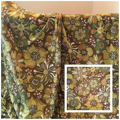 Vintage Mid Century Curtains/Fabric-Large Pair-115'' Drop