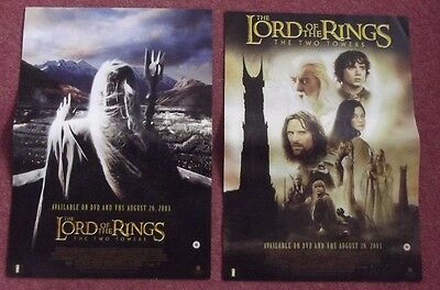 Lord of the Rings  The Two Towers  two sided posters