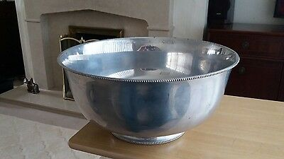 large (14 inches dia)stainless steel bowl