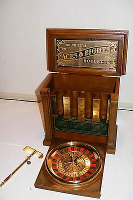 Rare Franklin Mint Aces & Eights Roulette Casino Style Craps Game