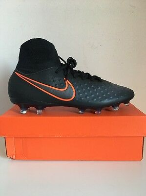 Mens Nike Magista Orden Ii Fg Football Boots Size Uk 10 Black