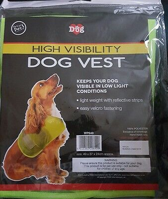 High Visability Dog Vest Road Safety Reflective Walking Night
