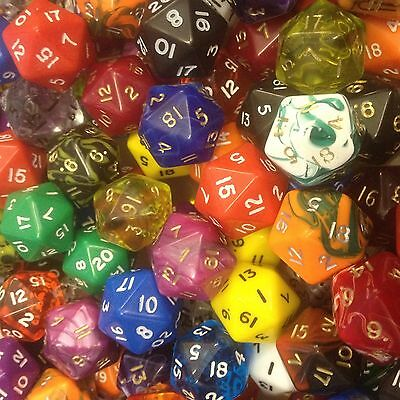 Poly Dice Packs of 25 MIXED FINISH