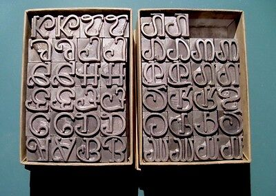 Rare 36pt Parsons Swash Initials BB&S Foundry Type Letterpress Printing