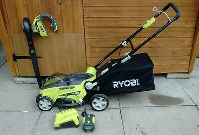 Ryobi 36v 3RLM3640 Lawn Mower And Leaf Blower with 2.6 Ah Battery, 36v unboxed