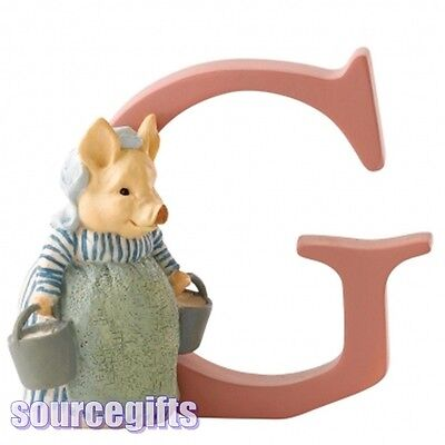 New * Letter G * Aunt Pettitoes  Beatrix Potter Alphabet Letters Figurine A4999