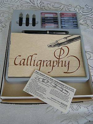 Sheaffer Calligraphy No Nonsense Pen Set With 3 Nibs Instructions & Tablet