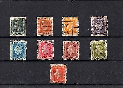 NEW ZEALAND Selection of 10 George V issues Used.