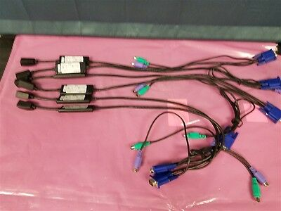 Lot of 6 Dell K9442 PS/2 System Interface Adapter KVM Network Enthernet Cable