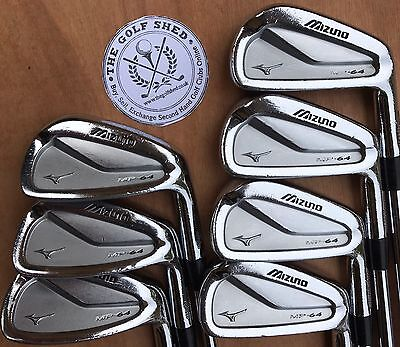 MIZUNO MP64 FORGED Irons - 4 - PW - TOUR ISSUE DG X100 SHAFTS - 1/2 INCH LONGER