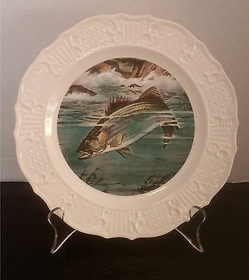 """""""Striped Bass,"""" Seagram's Whiskey Advertising Collectible Wildlife Plate"""